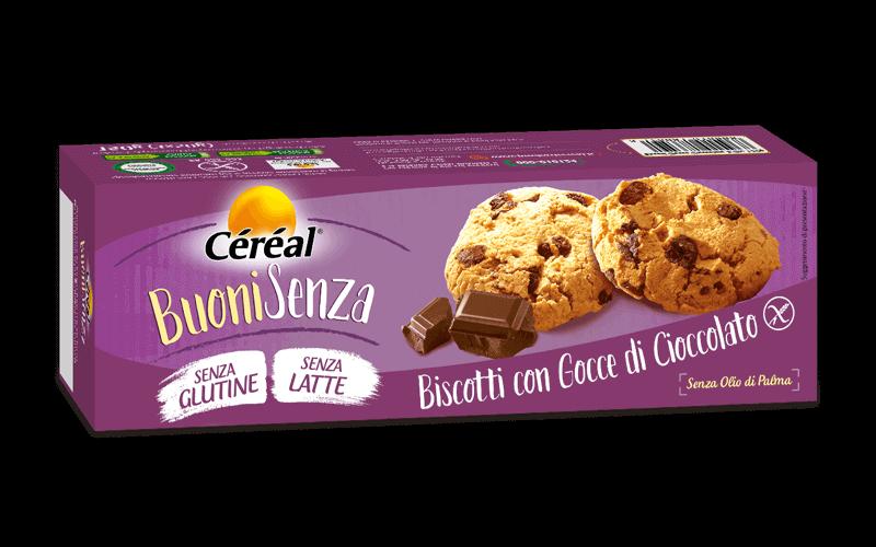 Biscotti con gocce di cioccolato Buoni Senza su cereal.it