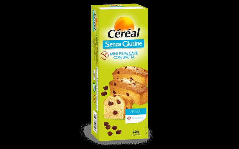 Mini Plum Cake con uvetta Dolci Senza Glutine su cereal.it