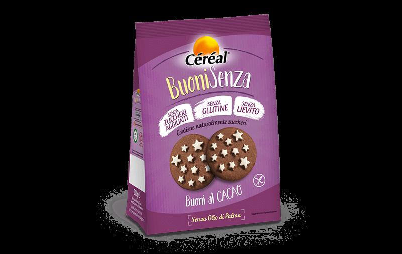 Biscotti buoni al cacao Buoni Senza su cereal.it