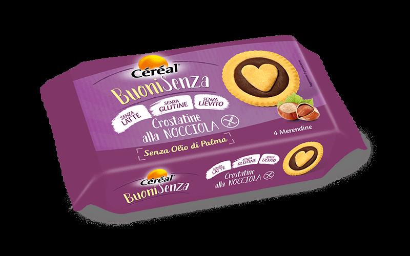 Merendine Crostatine Buone alla nocciola Buoni Senza su cereal.it