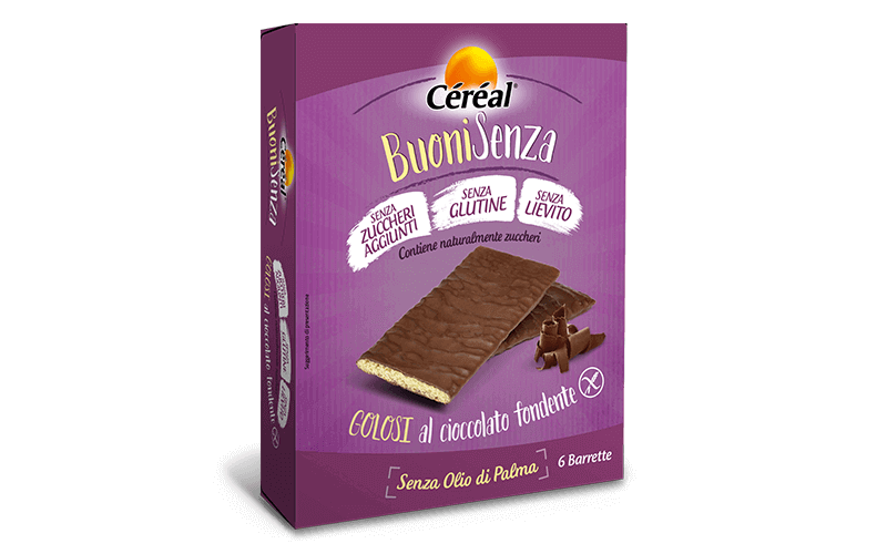 Merendine Golosi al cioccolato fondente Buoni Senza su cereal.it