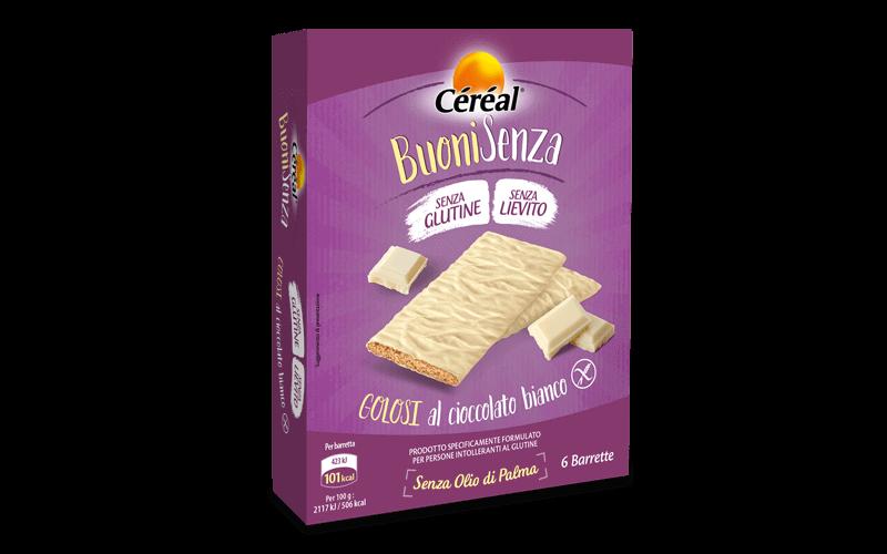 Merendine Golosi al cioccolato bianco Buoni Senza su cereal.it