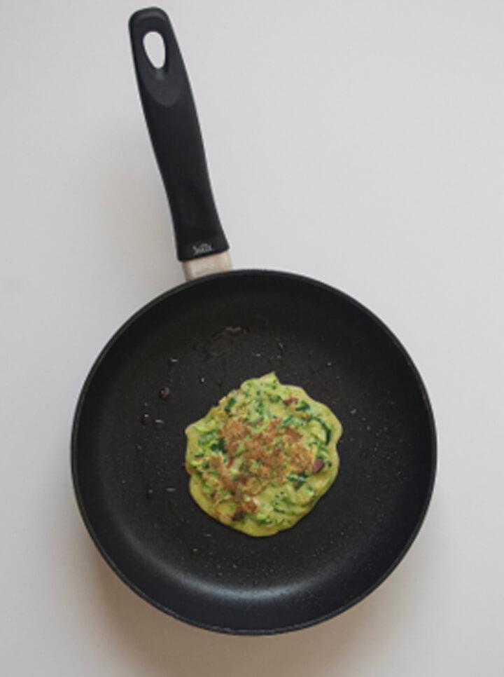 Frittata di zucchine con Bevanda Riso Mandorla Céréal