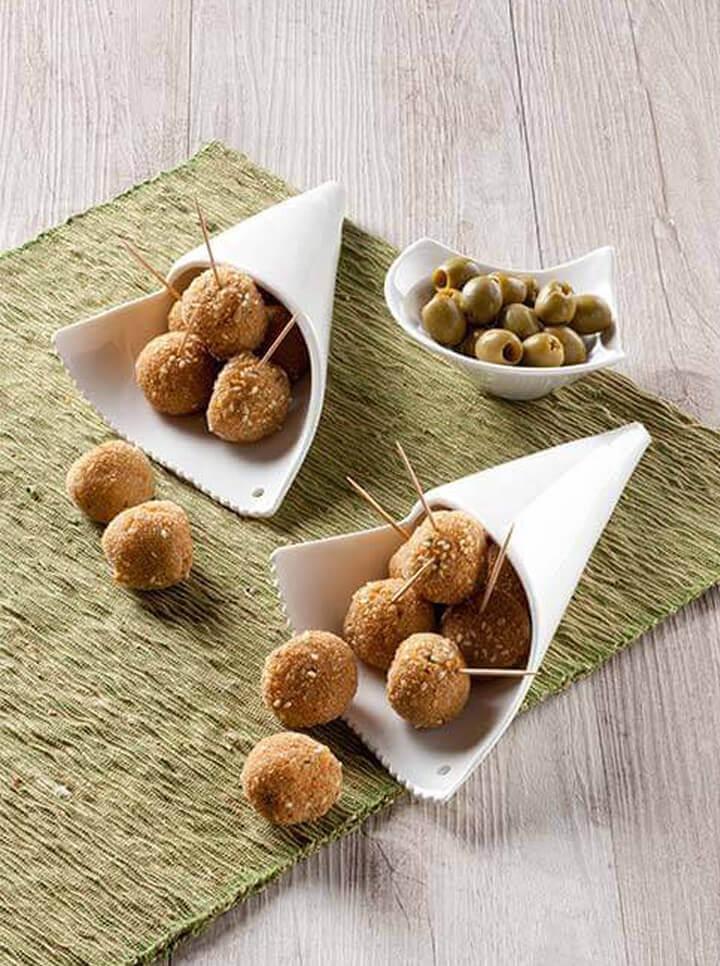 Polpettine croccanti sesamo e olive