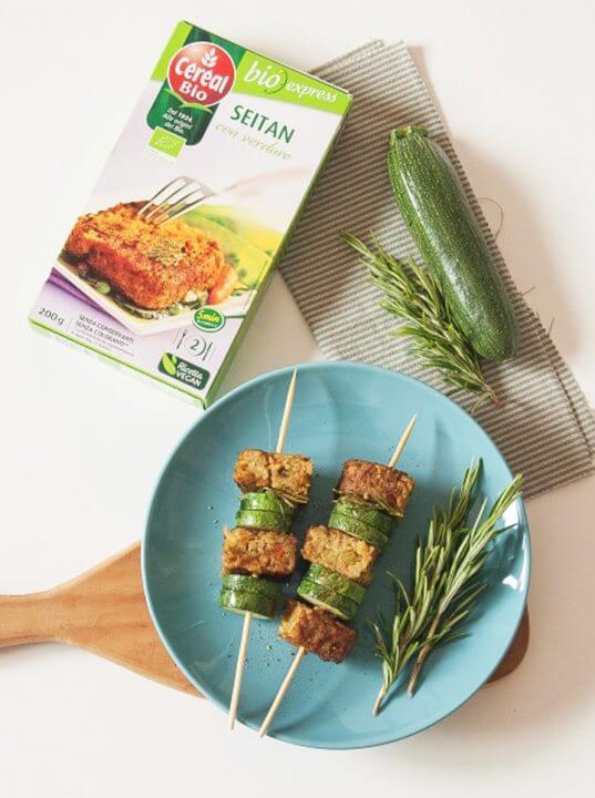 Spiedini di Seitan con verdure Céréal Bio
