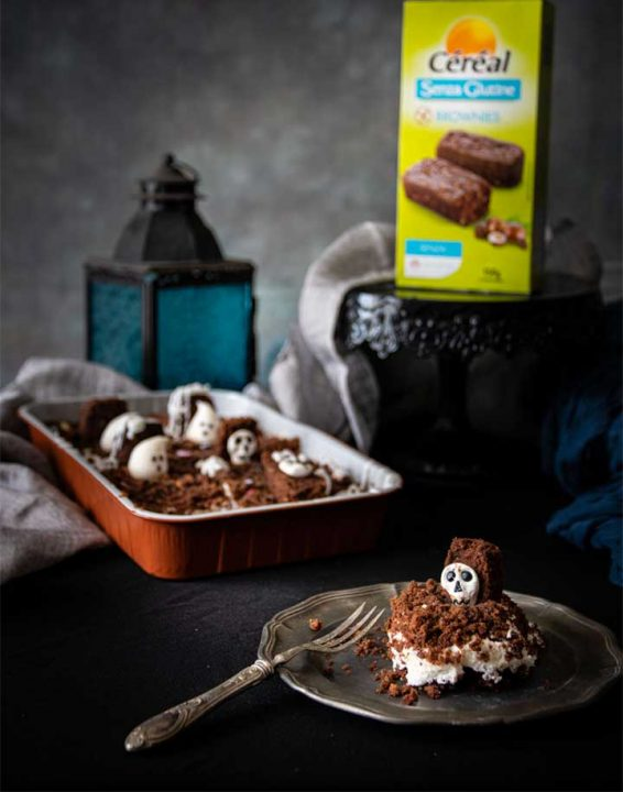 Torta con brownies