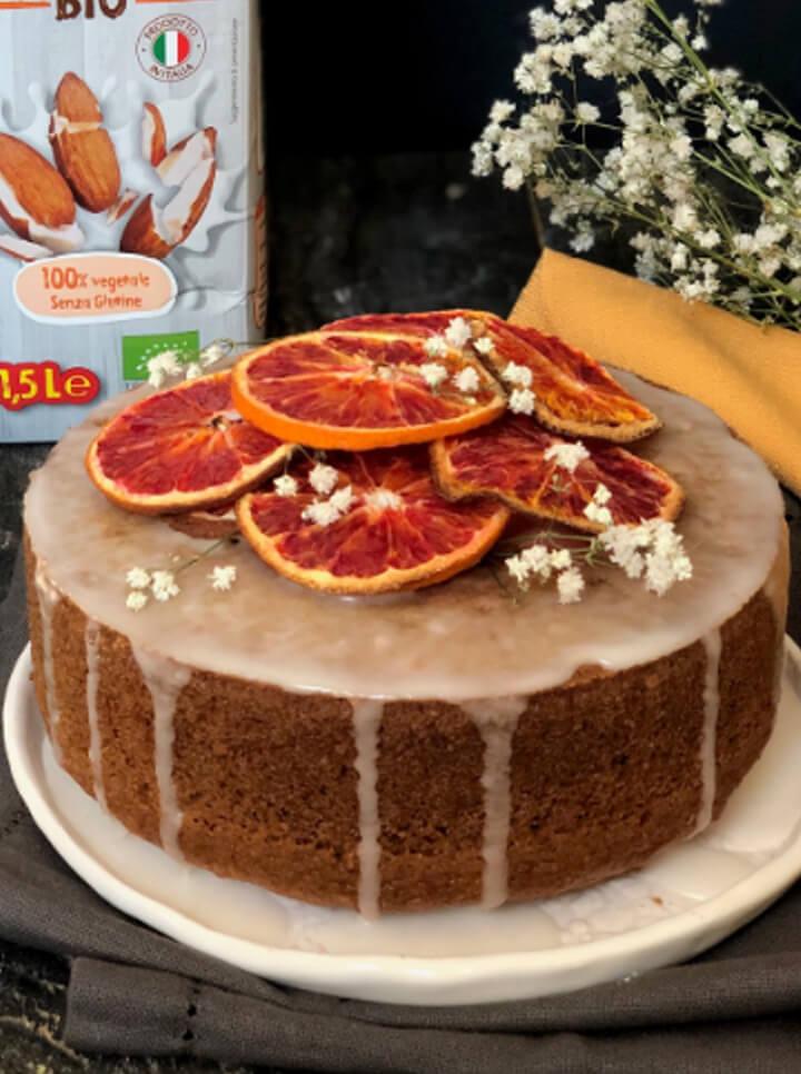 Torta all'arancia con glassa alla Bevanda Mandorla BIO Céréal
